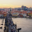 Charles Bridge and Prague Castle, Czech Republic - Stock Photo