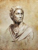 Brutus portrait illustration, copy of Brutus by Michelangelo — Stock Photo