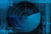 Radar illustration — Stock Photo