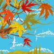 Stock Vector: Sunny autumn day