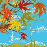 Sunny autumn day — Stock Vector