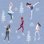 Figure skating background — Stock Vector