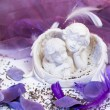 Two angels at the wedding table — Stock Photo