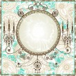 Royalty-Free Stock Imagem Vetorial: Romantic vintage frame with place for  text