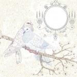 Birds in love. Illustration in retro style — Stock Vector #11411718