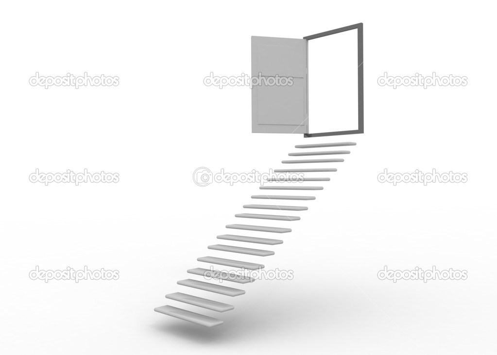 Stairways leads to door — Stock Photo #11109868