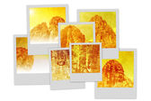Temples of Angkor Polaroid pile — Stock Photo