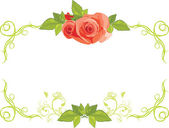 Ornamental frame with roses — Stock Vector