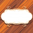 Decorative frame on the wooden background — Stock Vector