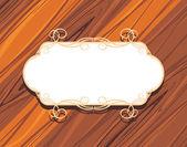 木制的背景上装饰框架 — 图库矢量图片