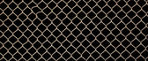 Metal grille fence — Stock Photo