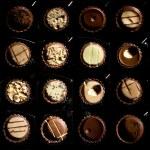 Closeup of various chocolate candies — Stock Photo