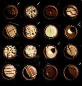 çeşitli çikolata şekerleme portre — Stok fotoğraf