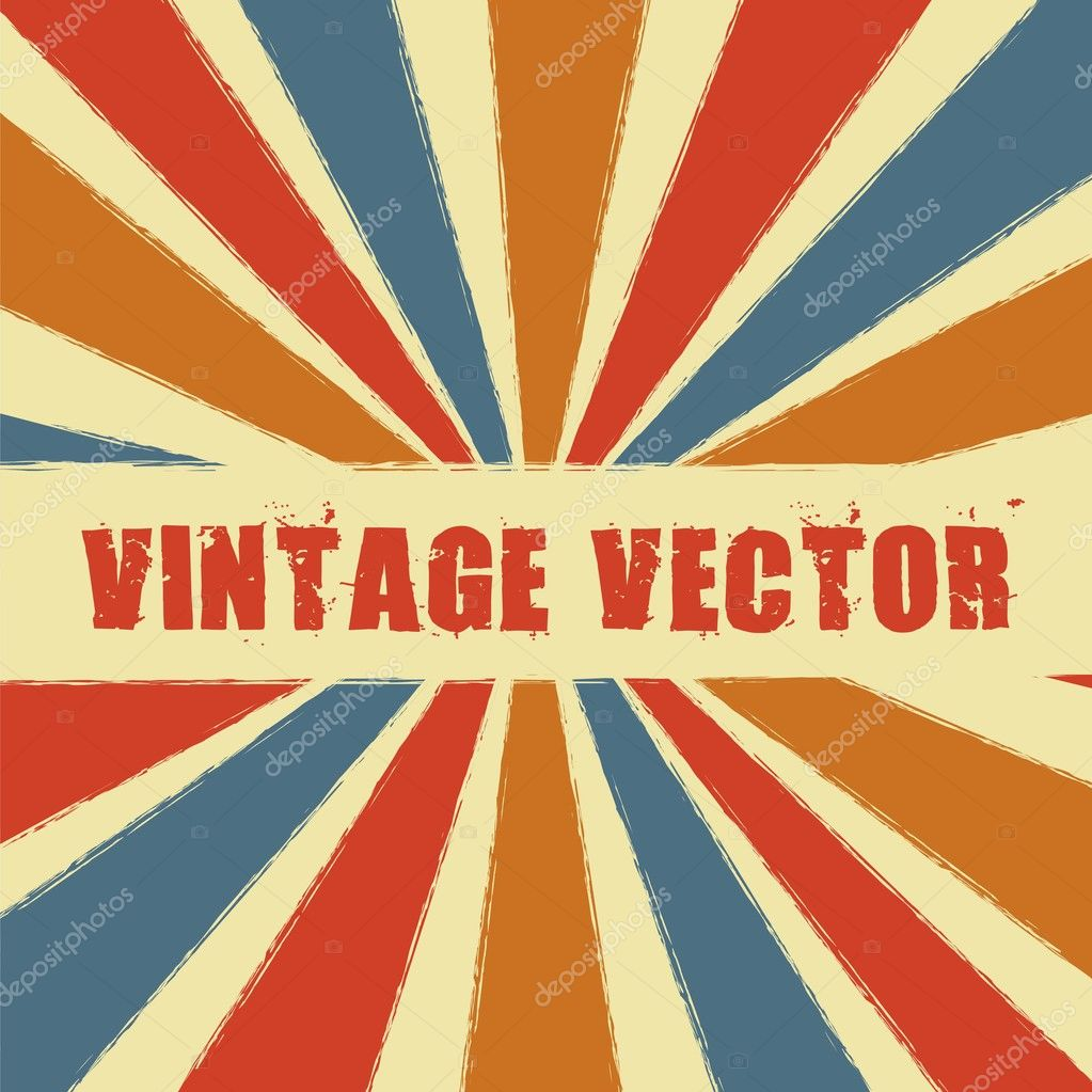 Vintage with stripes. vector illustration — Stock Vector #10738471