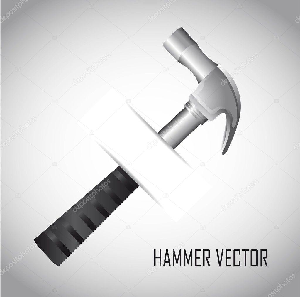 Vector Illustration Hammer: Stock Vector © Yupiramos #10738580