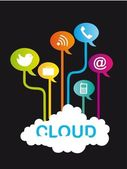 Cloud communication — Stock Vector