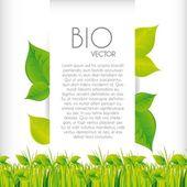 Bio concept design — Stock Vector