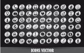 Icone di cromo — Vettoriale Stock