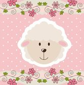 Sevimli koyun — Stok Vektör