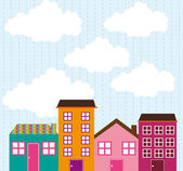 Cute houses — Stock Vector