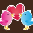 Stock Vector: Love birds