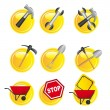 Yellow signs - Stock Vector