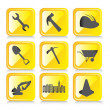 Yellow icons — Stock Vector