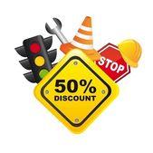 Traffic sale icon — Stock Vector