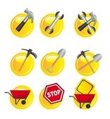 Yellow signs — Stock Vector