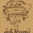 Just married - Imagens vectoriais em stock