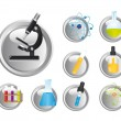 Chemical icons — Stock Vector