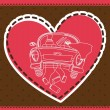 Vector de stock : Just married