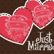 Just married — Vector de stock #11349121