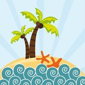 Beach — Stock Vector