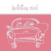 Carte d'invitation — Vecteur