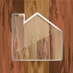 House wooden — Stock Vector