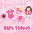Baby shower — Stok Vektör #11454586