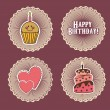Stock Vector: Birthday tags