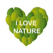 Love nature — Stock Vector