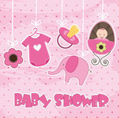 Baby shower — Stok Vektör