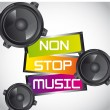 Non stop music — Stock Vector