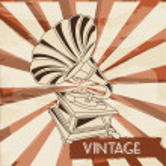 Gramophone vintage — Stock Vector