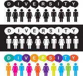 Diversity — Stock Vector