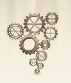 Old gears — Stock Vector
