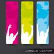 Colorful labels - Stock Vector