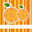 Stock Vector: Orange fruit