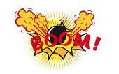 Boom pop art — Stock Vector