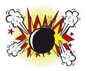 Bomb pop art — Stock Vector