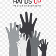 Hands up — Stock Vector