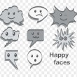 happy faces — Stock Vector